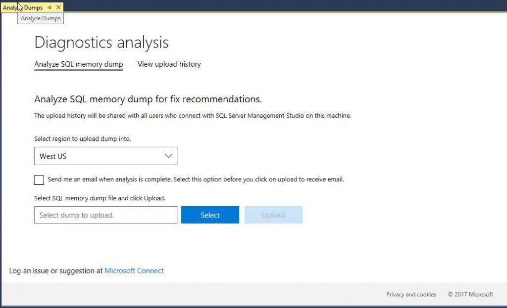 Analyze Dumps - SQL Server Diagnostics