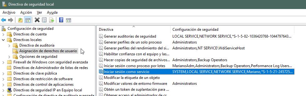 Directiva de seguridad local para xp_cmdShell